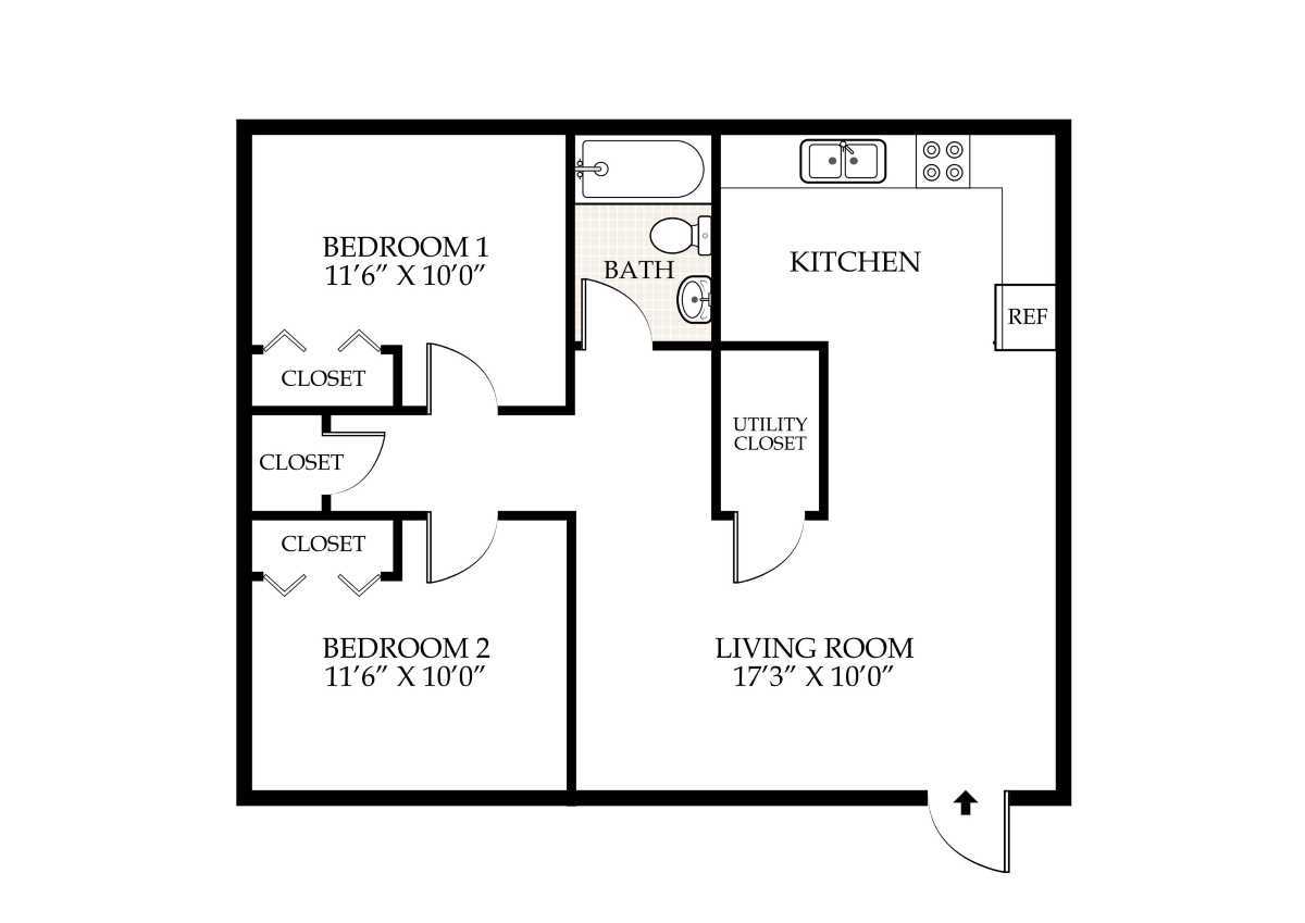 Penningroth apartments iowa city iowa for 2 bedroom 1 bath house floor plans