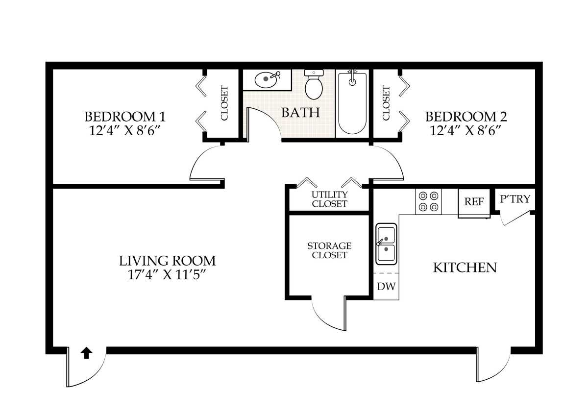 2 bedroom 2 bathroom apartment floor plans penningroth apartments iowa city iowa