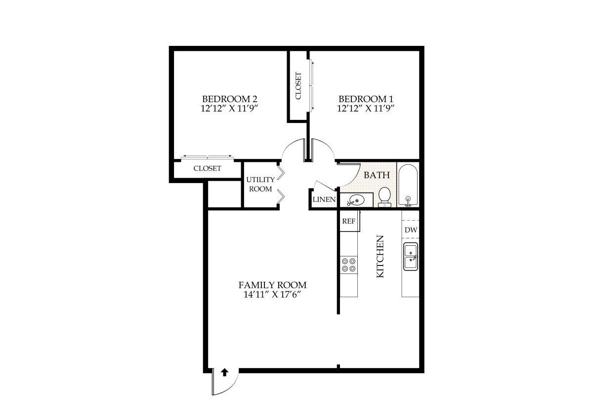 Penningroth apartments iowa city iowa for Two bedroom two bath apartment floor plans
